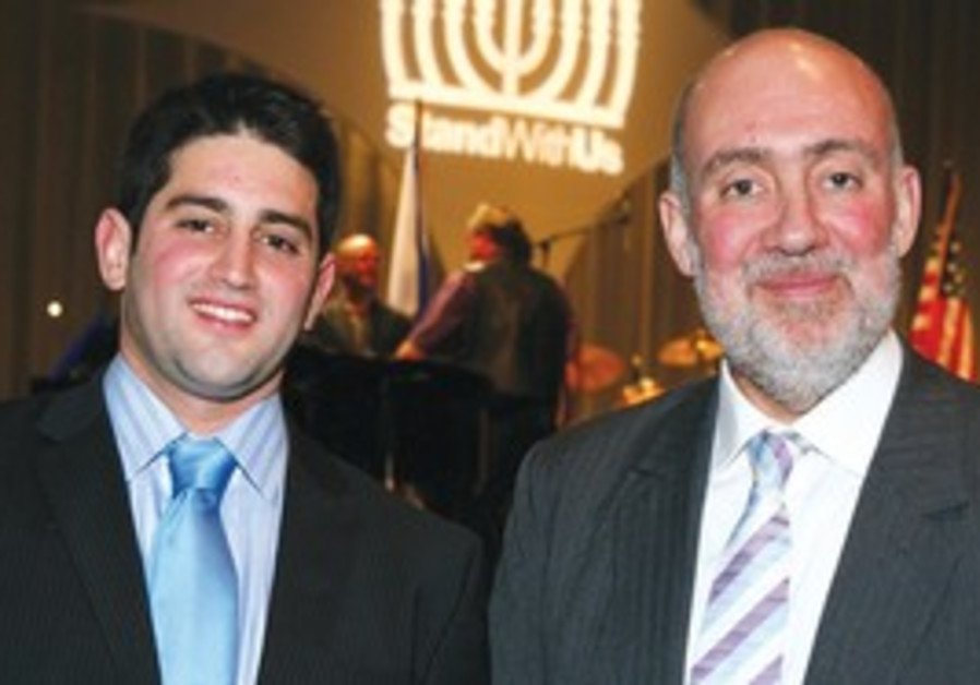 Ron Prosor and his son Lior