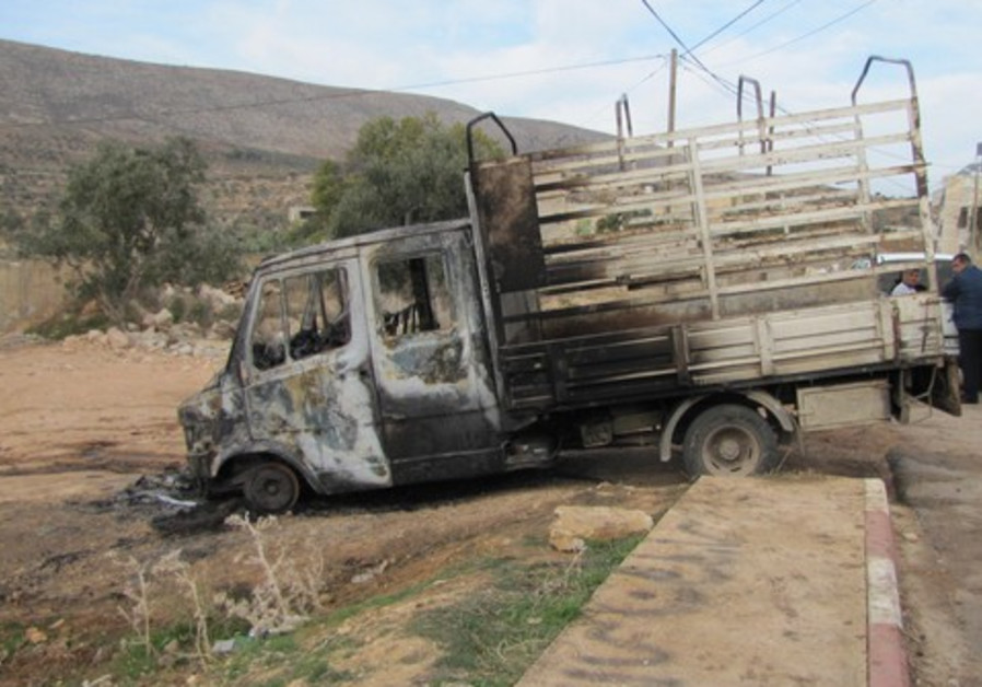 Palestinian vehicle set on fire in 'price tag'
