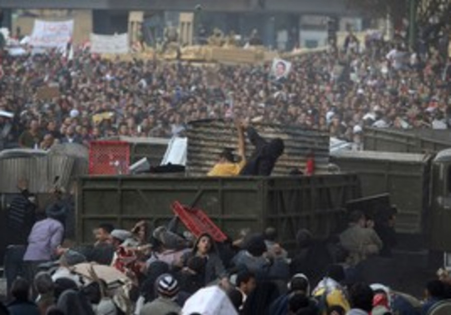 Clashes in Tahrir Square, Feb 2011