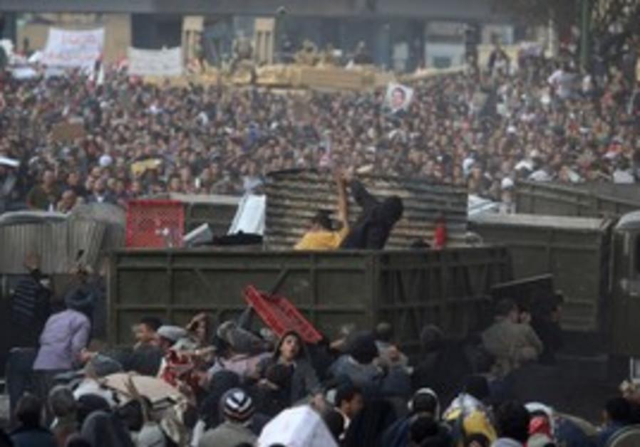 Clashes in Tahrir Square, Feb 2011