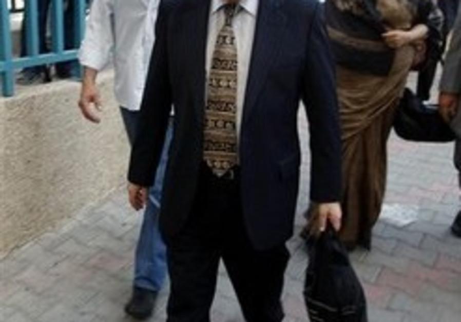 UN investigator Richard Goldstone arrives for a me