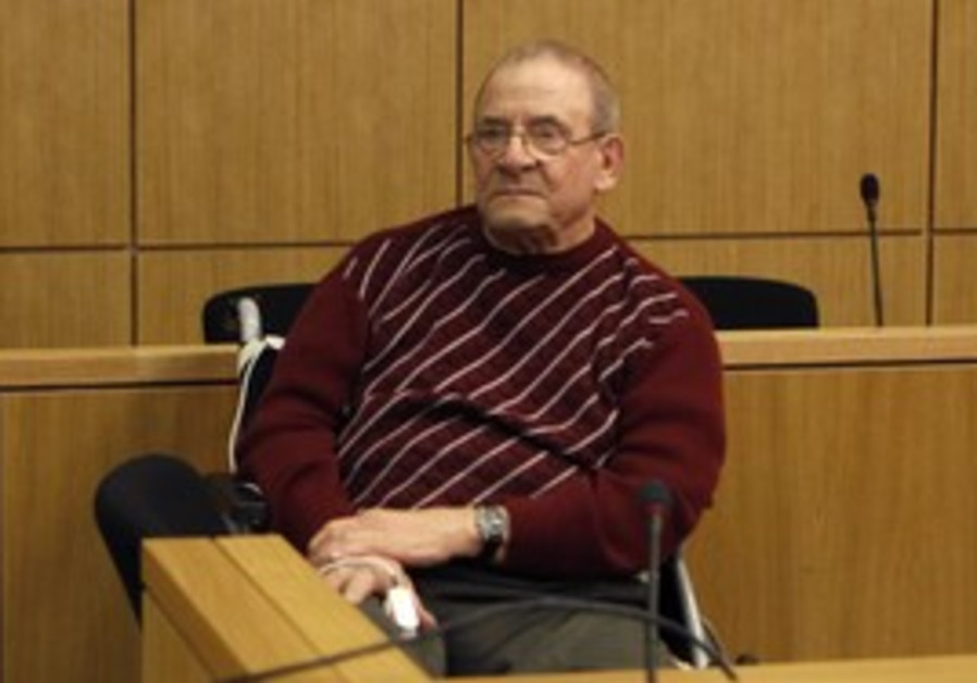 Convicted SS hitman Heinrich Boere at trial