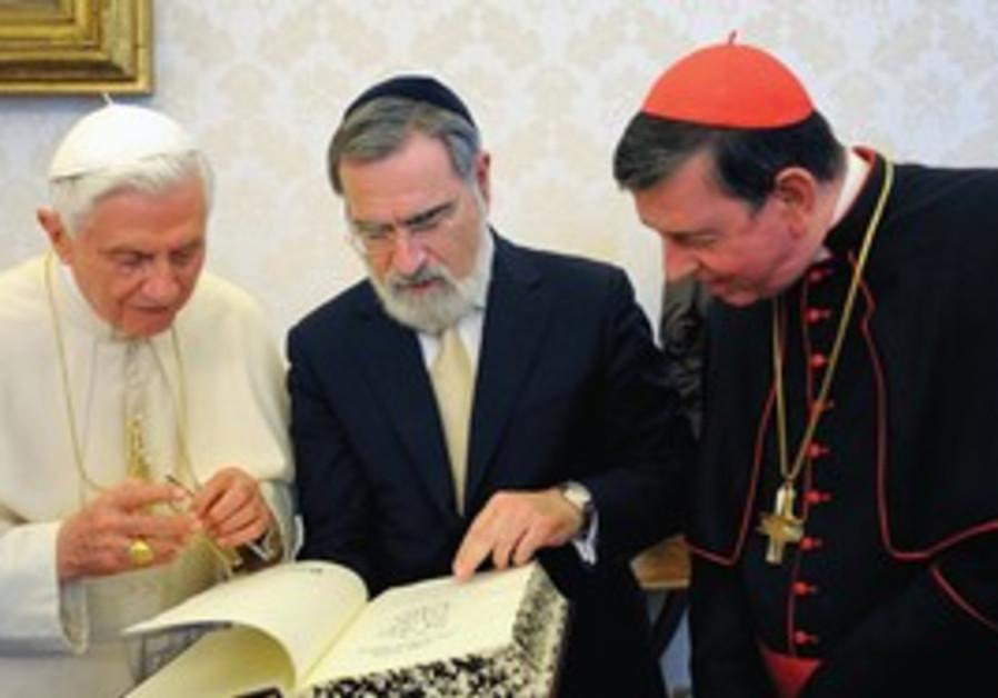 Pope Benedict, Jonathan Sacks