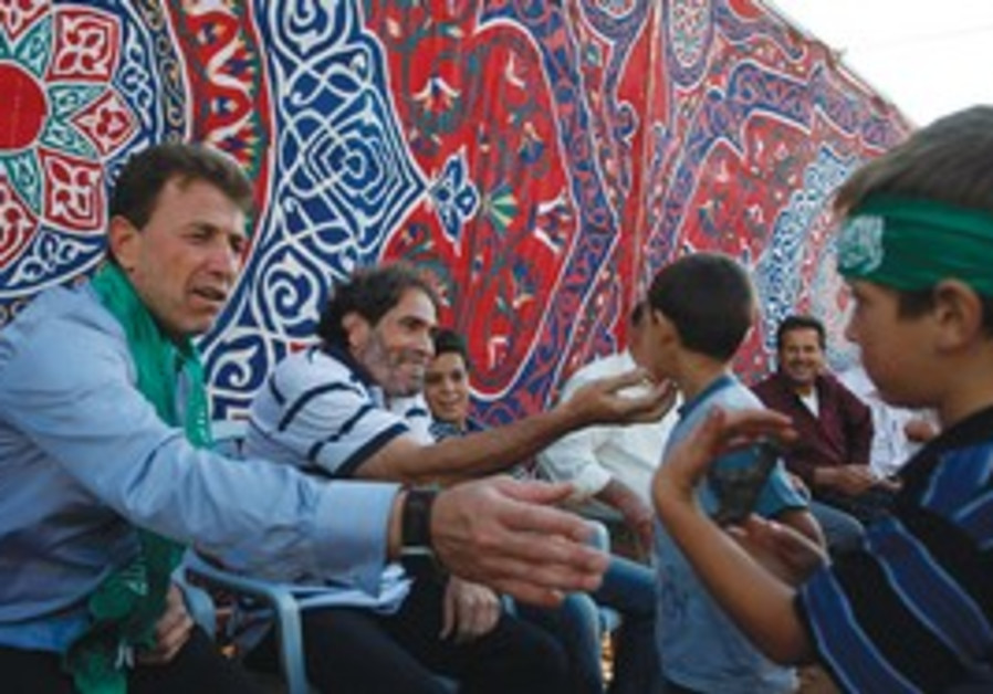 Freed Palestinian prisoner greets child