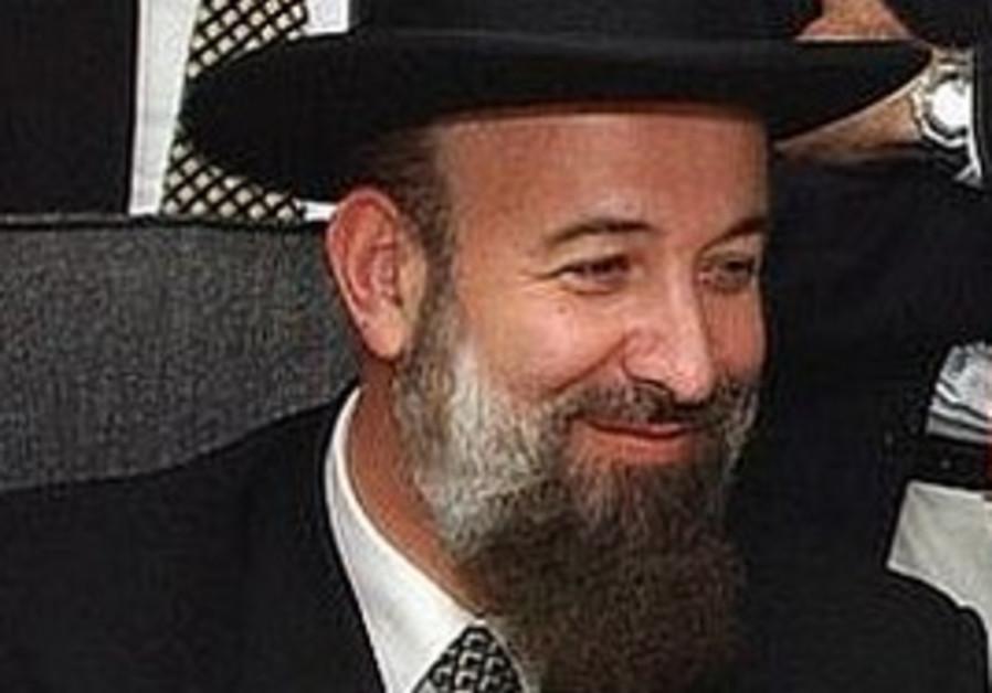 Chief Rabbi Yona Metzger