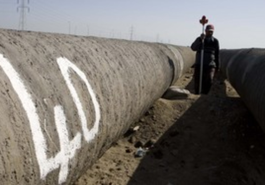 Pipeline that leads gas from Egypt to Israel