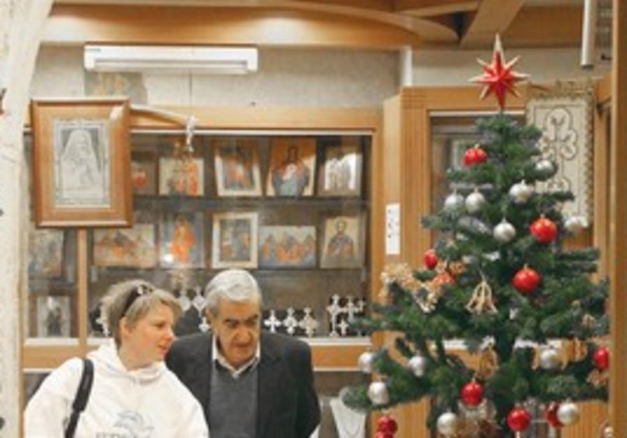 A Christian shopkeeper in Jerusalem