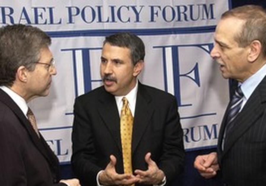 Thomas Friedman, Yossi Beilin, Yasser Abed Rabbo