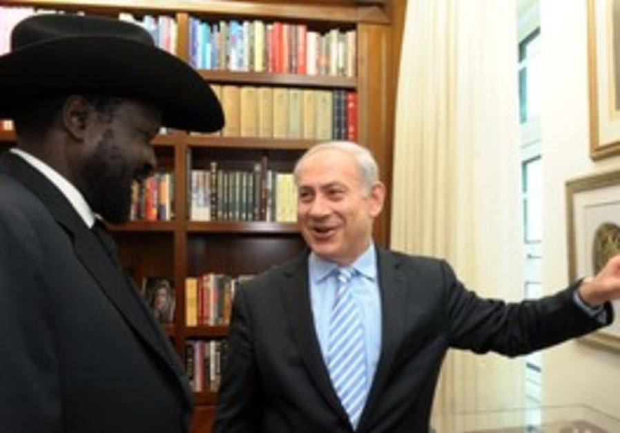 Prime Minister Netanyahu, S.Sudan pres Salva Kiir