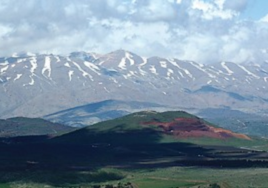 The Golan Hights, a view with mount Hermon