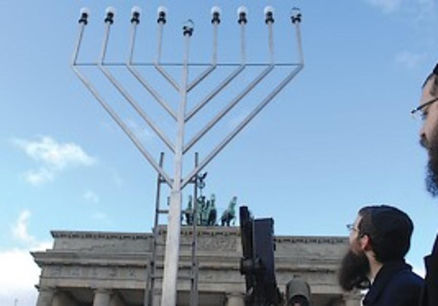 JEWS CELEBRATE the start of Hanukka at the Branden