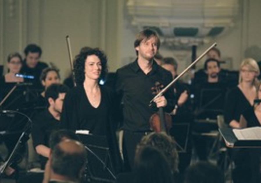 CONDUCTOR KARIN Ben-Yoseph and violinist Roee Shil