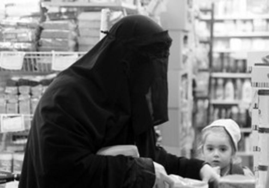 Jewish woman wearing Burqa
