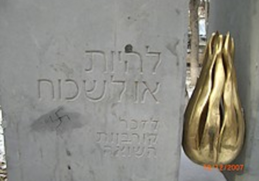 Vandals deface Holocaust memorial in Armenia