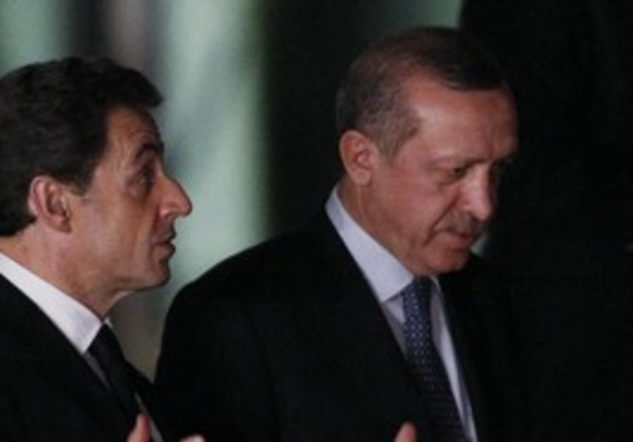 Turkey's Erdogan and Frances' Sarkozy