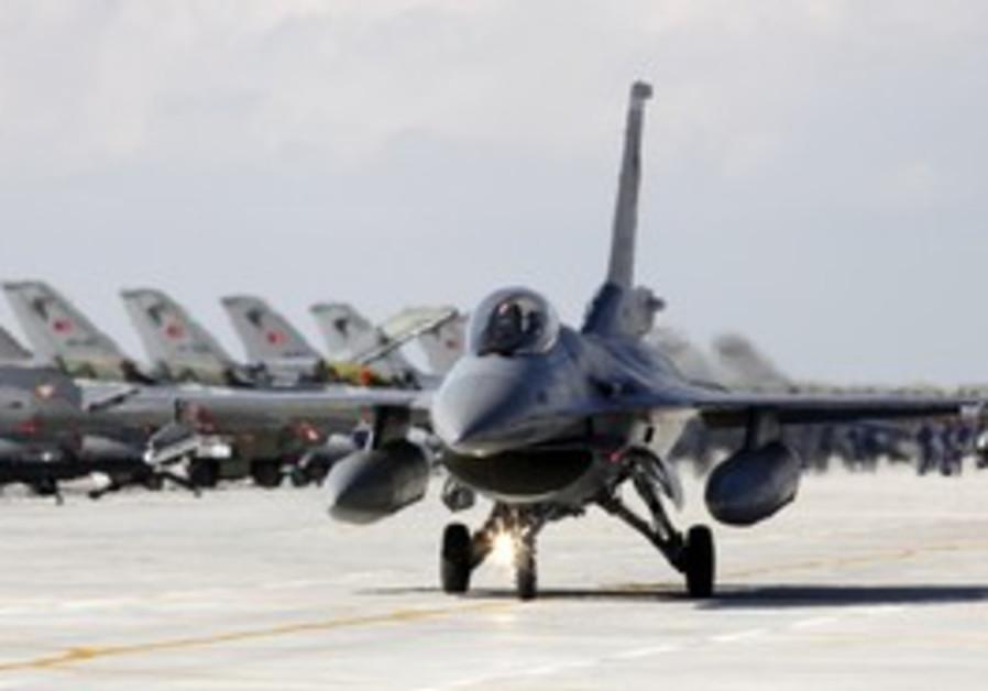 A Turkish Air Force F16 jet fighter [illustrative]