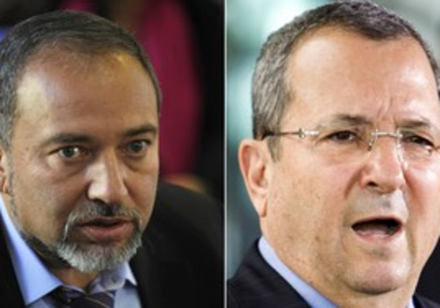 Avigdor Lieberman and Ehud Barak