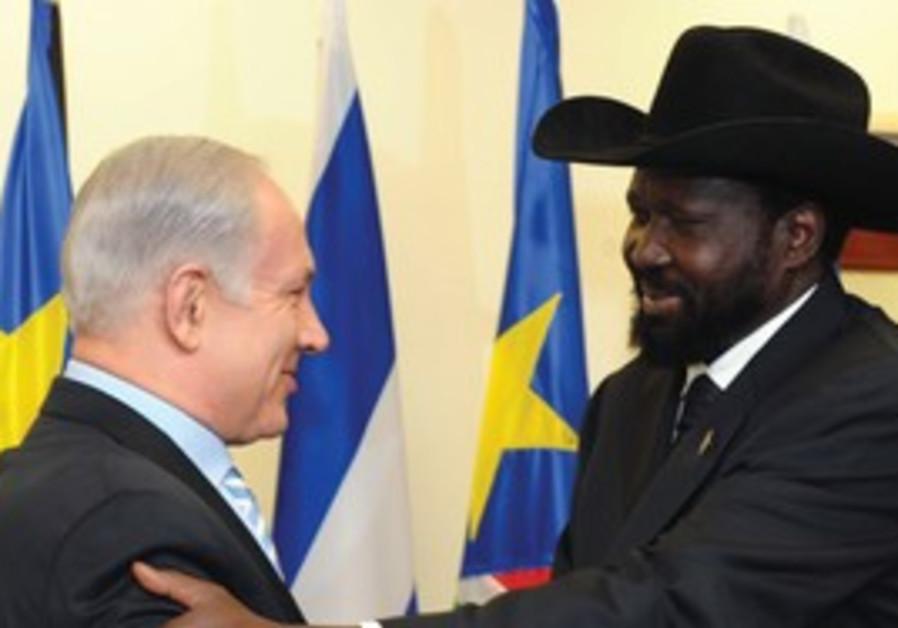 PM Netanyahu meets South Sudan President Kiir
