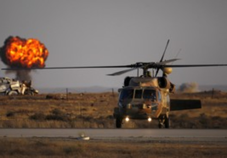 Black Hawk helicopter at Hatzerim base
