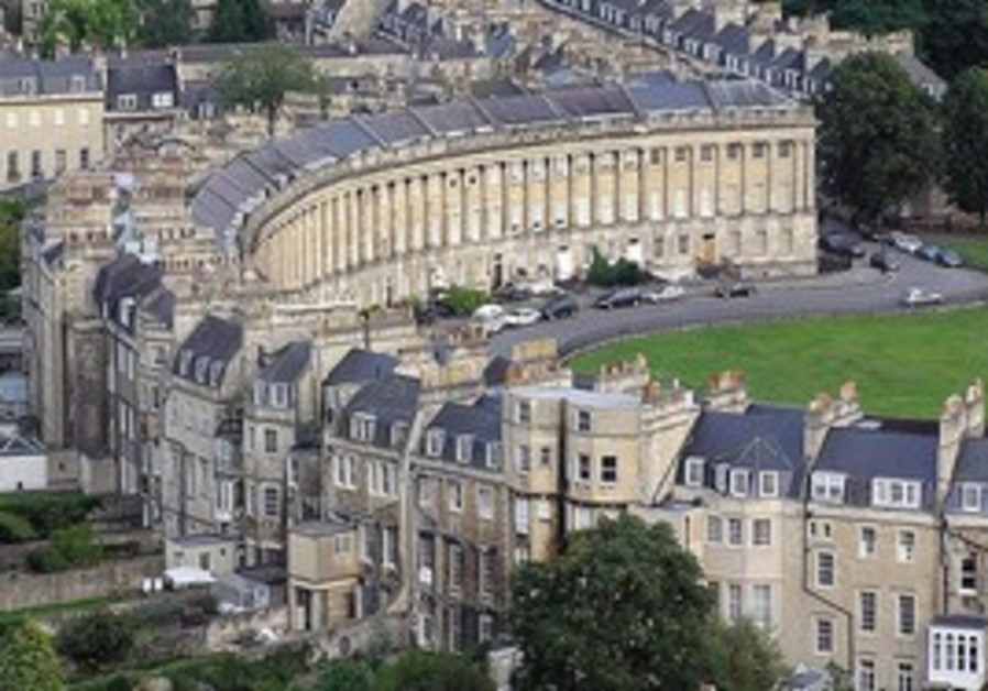 The Royal Crescent  in Bath, England.