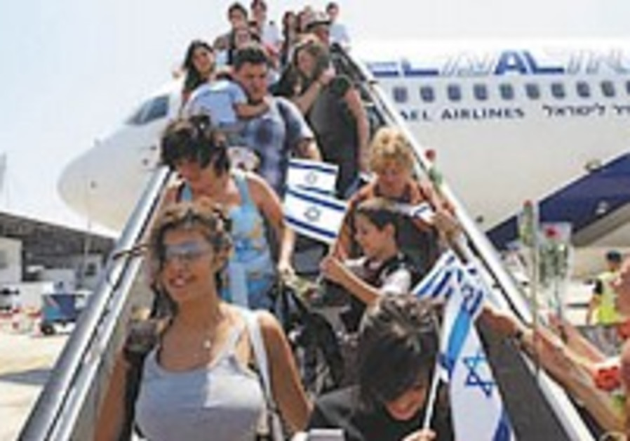 Live video feed: Olim arrive in Israel