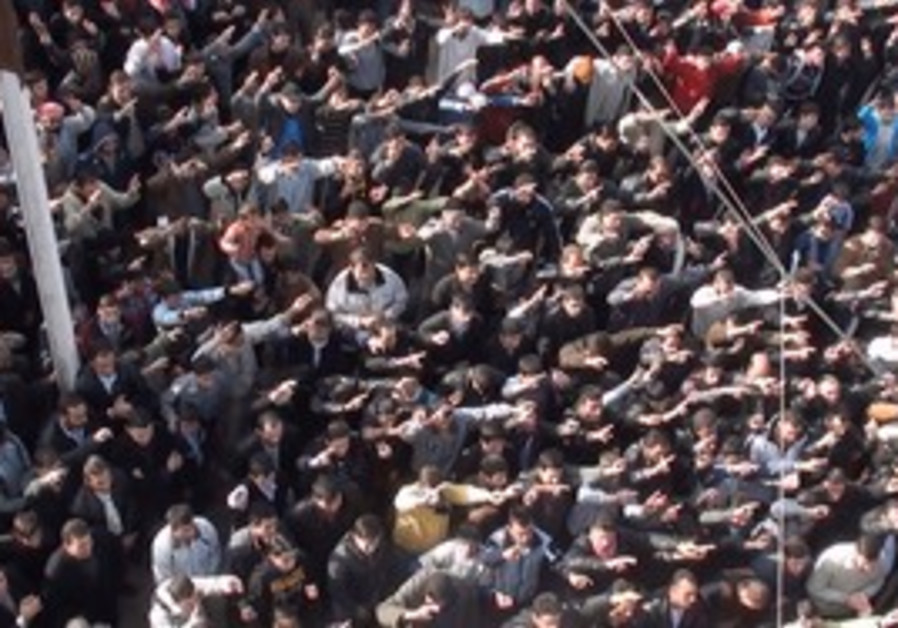 Anti-Assad protest in Homs, Syria