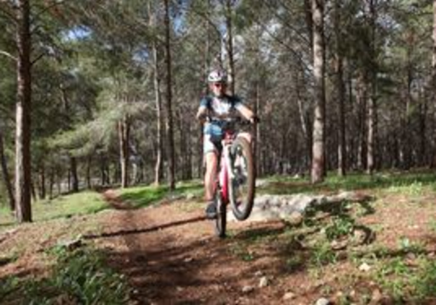 Biker in Ben Shemen Forest