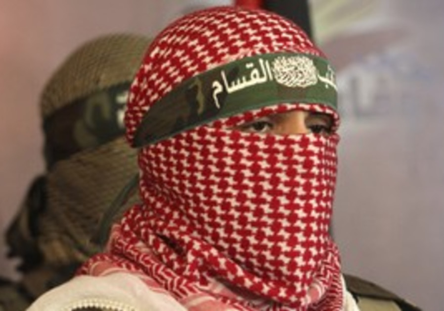 Members of al-Kassam brigades.