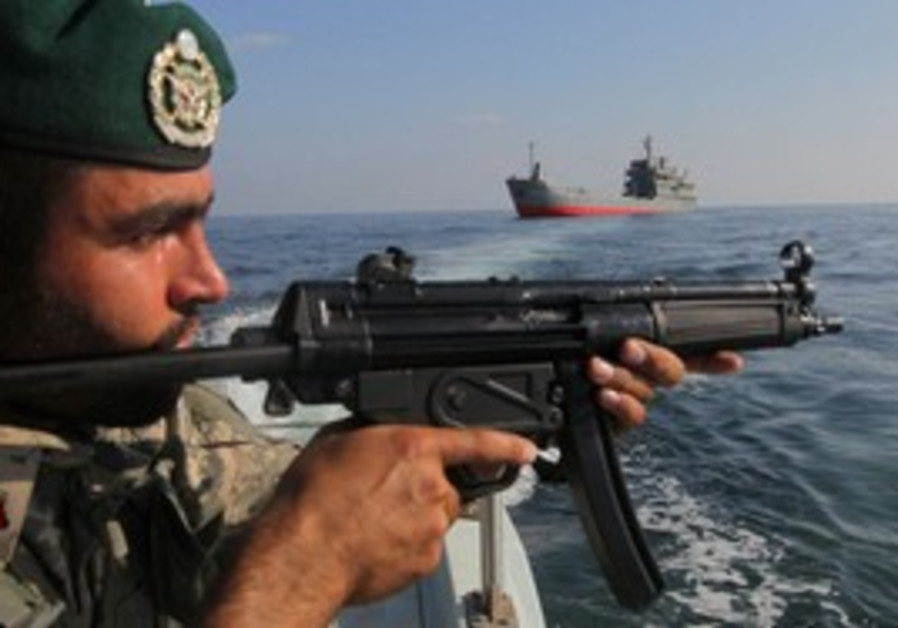 Iranian military in the Strait of Hormuz