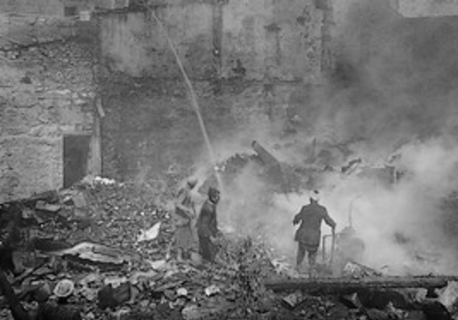 Fire in the Armenian Quarter of Jerusalem