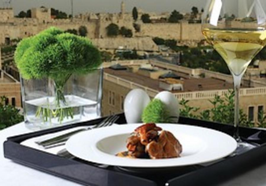 Food at the Mamilla hotel