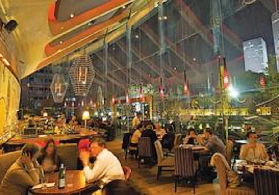 Interior of Uno restaurant, Tel Aviv