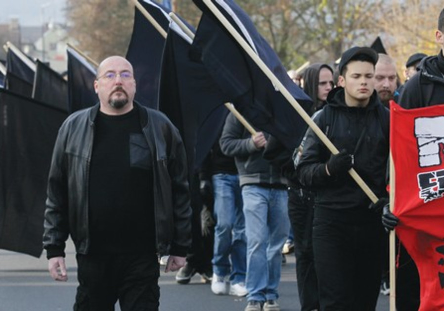 Neo Nazis march in Remagen