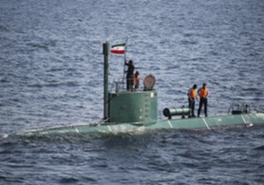 Iranian submarine in Strait of Hormuz