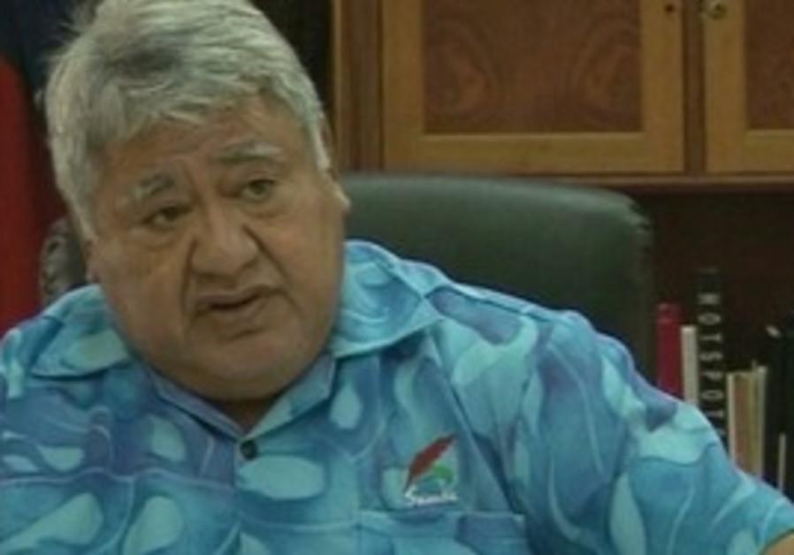 Samoan Prime Minister Tuilaepa Sailele Malielegaoi