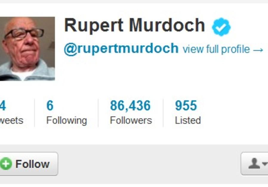 Rupert Murdoch Twitter account