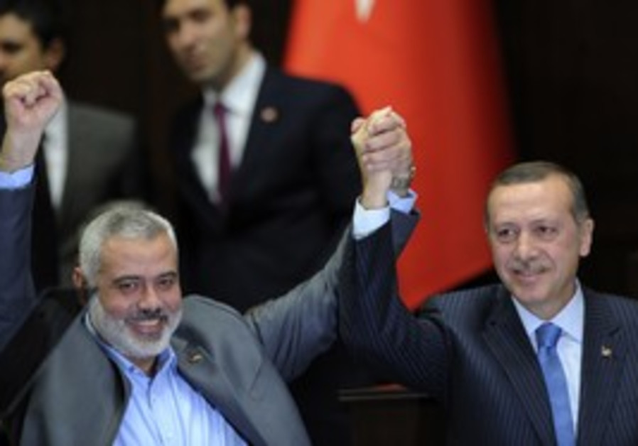 Hamas PM Ismail Haniyeh, Turkish PM  Erdogan