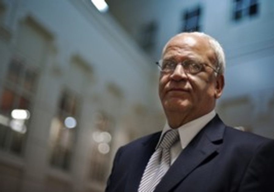 Palestinian Authority negotiator Saeb Erekat