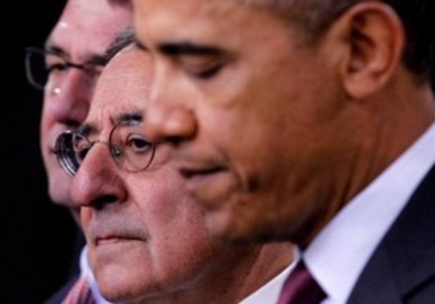 Obama with US Defense Secretary Panetta