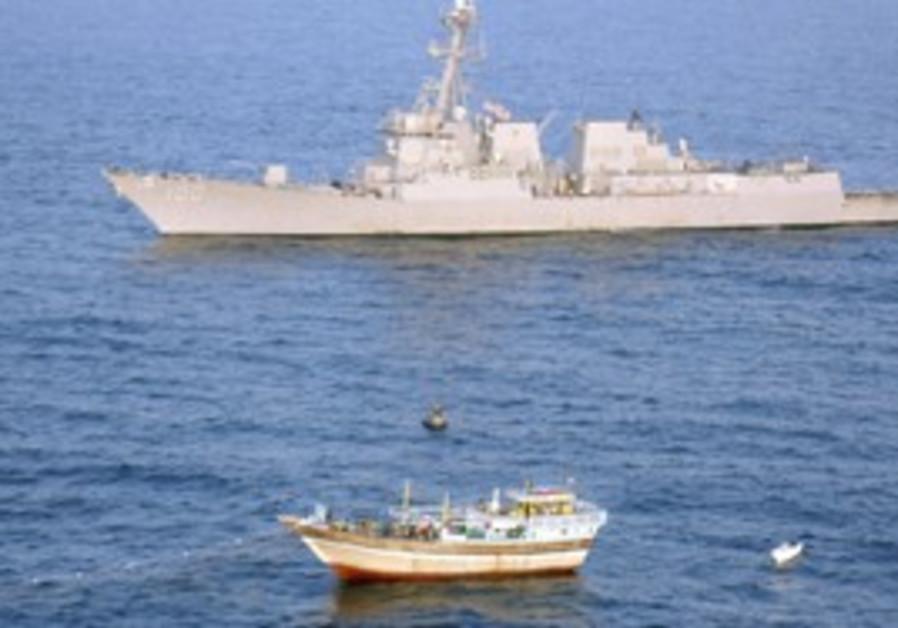 Iranian-flagged fishing dhow  in Arabian Sea