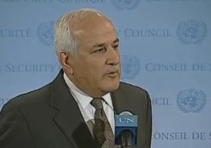 PA envoy to the UN Riyad Mansour