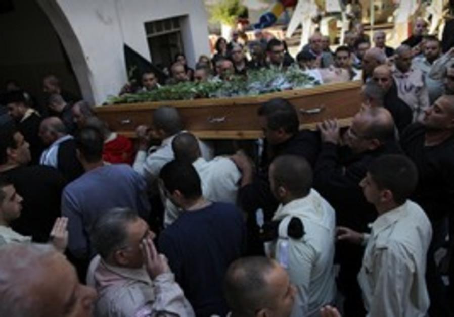 Gabriel Cadis funeral in Jaffa