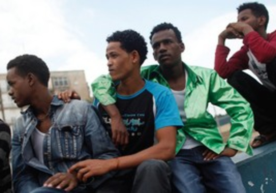 African migrants in Tel Aviv.