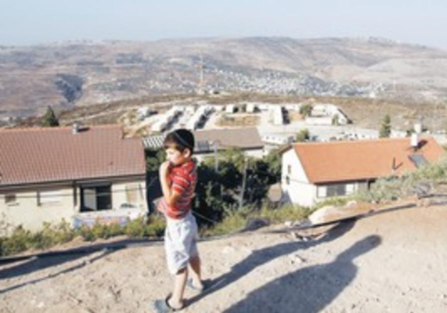 A boy in the Yitzhar settlement