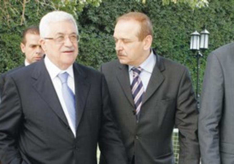 Mahmoud Abbas and Yasser Abed Rabbo [file photo]