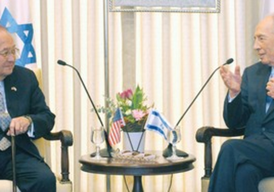 Peres meets Daniel K. Inouye