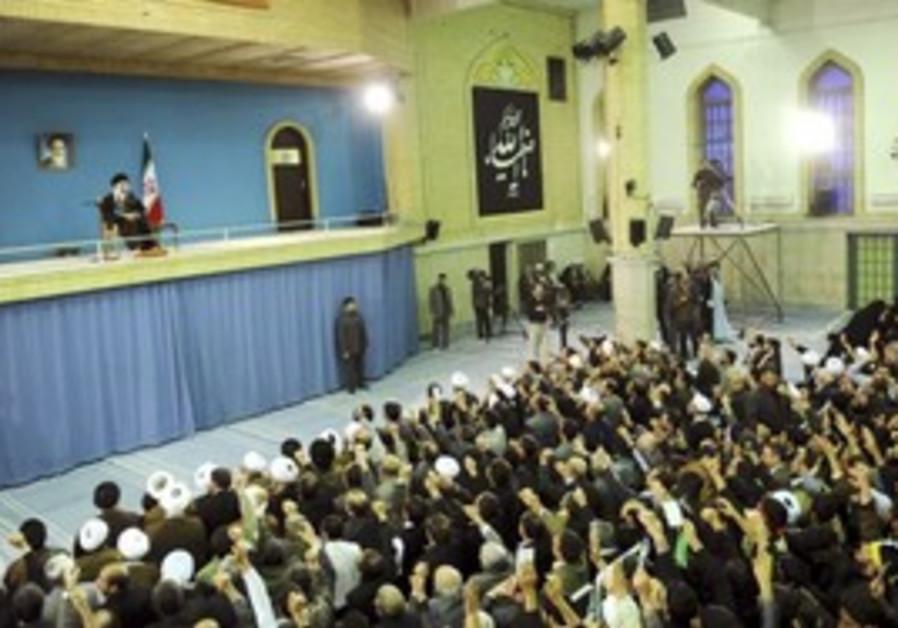Ayotollah Khamenei speaks to supporters in Tehran