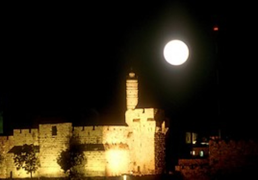 Citadel of David by night