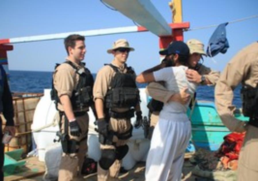 Iranian sailors thank US navy [illustrative]