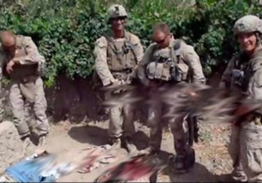 Video of Marines urinated on Taliban corpses
